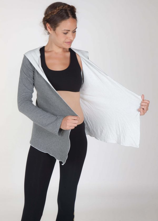 wrap hoodie for yoga meditation